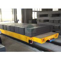 Buy cheap 50T Heavy duty platform trolley on rails for forged plant handling from wholesalers