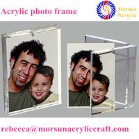 Buy cheap Transparent desktop acrylic magnetic picture holder 5X7 for gift from wholesalers