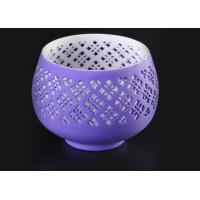 Buy cheap graceful hollow out ceramic votive candle holder wholesale fit solid candle from wholesalers