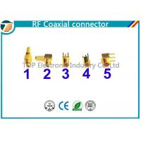Buy cheap MMCX Male Crimp Connector Right Angle 50 OHMs For RG316 Coaxial Cable from wholesalers