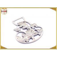 Buy cheap Ladies Bag Hollowed Custom Stamped Metal Logo Tags High Class Patterned from wholesalers