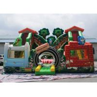 Buy cheap Jungle theme kids backyard inflatable amusement park with digital printing for from wholesalers