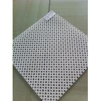 Buy cheap wall custom Perforated Metal Mesh Sheets , Punched Decorative Metal Mesh Panels from wholesalers