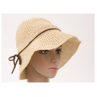 Buy cheap Fashionable 8cm Short Brim Packable Sun Hat , Autumn Leisure Hats For Lady from wholesalers