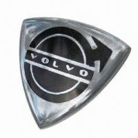 Buy cheap Metal Triangle Shape Chrome Car Emblem with VOLVO Logo, Available in Various Designs from wholesalers