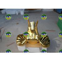 Buy cheap artificial golden elephant head statue/sculpture as decoration in hotel mall display model from wholesalers