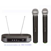 Buy cheap LS-7210 UHF dual channel wireless microphone with  2MICS  / micrófon cheap price / SHURE PG88 from wholesalers