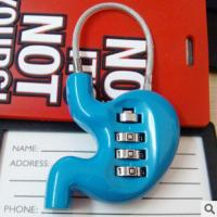 Wholesale 3 digit Combination Padlock Stomach Shape coded Lock Password Padlock Luggage Locks CR-001 from china suppliers