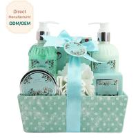 Buy cheap Adult Body Care Bath Gift Set / Luxury Body Care Gift Sets Weaving Basket from wholesalers