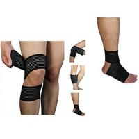 Wholesale High elasticity Calf Thigh Support Knee Compression Wrap Bandage. Elastic material.Customized size. from china suppliers