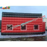 Buy cheap Red Durable Inflatable Party Tent PVC Coated Nylon With Cube Design product