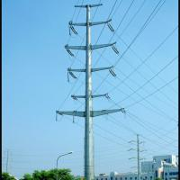 Buy cheap High voltage galvanized power transmission steel poles,electric power equipment from wholesalers