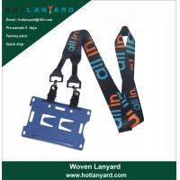 Buy cheap Promotional Sublimation Sublimated Custom ID Card Holders Lanyards with Logo product