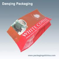 Buy cheap Custom Printed Coffee Packaging Bags Red Side Gusset Pillow Pouch With Valve product