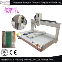 White 0.5KW Manual Desktop PCB Router Machine with Air Cooled Spindle Manufactures