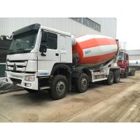 Buy cheap 266-371hp Euro2 Euro3 HOWO A7 Truck Concrete Mixer 8x4 10cbm In Red White Color from wholesalers