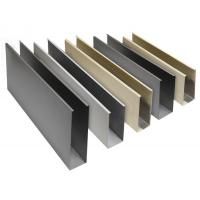 Buy cheap U Shape Custom Predrilled Aluminum Extrusion Profiles For Window Door Glass from wholesalers