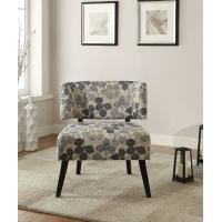China Curta Upholstered Accent Chairs Living Room With Tailored And Leaf Pattern on sale