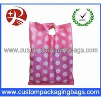Buy cheap Exquisit Pink Die Cut Handle Personalised Plastic Bags For Stationery from wholesalers