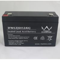 Buy cheap 3FM12 6 Volt 12AH / 10AH AGM Lead Acid Batteries For Solar Power Stations from wholesalers