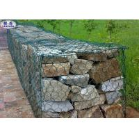Buy cheap Custom Hexagonal Gabion Wall Cages / Wire Mesh Rock Retaining Wall from wholesalers