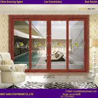 Buy cheap Certification Double glazing glass aluninum frame interior Accordion door from wholesalers