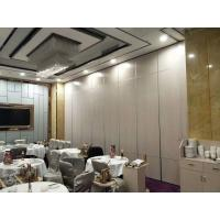 Buy cheap Melamine Surface Operable Acoustic Room Dividers For Restaurant / Sliding Partition Wall from wholesalers