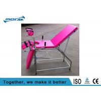Stainless Steel Gynecological Chair ,Pink  Portable Examination Chair Manufactures