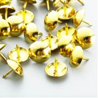 Buy cheap Domed Upholstery Nails 10.5mm Diameter Head; Small Gold Upholstery Nailhead Trim;Vintage Gold Upholstery Tacks 10.5x9mm from wholesalers