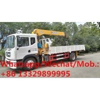 Buy cheap HOT SALE!Dongfeng D9 4*2 LHD 190hp 6.3tons cargo truck with crane, new best price telescopic crane mounted on truck from wholesalers