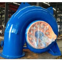 Stainless Steel Runner Horizontal Small Francis Turbine 100kW - 500kW Manufactures