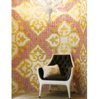 Glass mosaic wall tiles luxury gold mosaic pattern for living room decoration Manufactures
