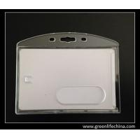 Buy cheap Clear plastic acrylic business card holder good rigid badge holder for name card display from wholesalers