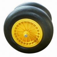 Buy cheap PU Foam Wheel with Plastic Hub, Suitable for Wheelbarrow, Tool Cart and Machine from wholesalers