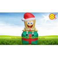Children Inflatable Advertising Spongebob Christmas Present Manufactures