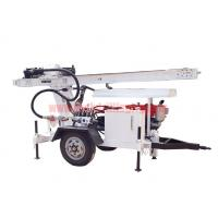 Buy cheap Trailer Mounted Hydraulic Water Well Drilling Rig 2 Wheel For DTH Air / Mud Pump Drilling from wholesalers