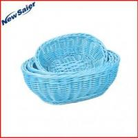 Buy cheap Eco-friendly plastic rattan oval display basket from wholesalers