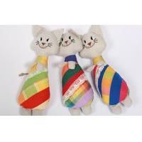 "Soft Sculpture Handmade Linen Toys Soft Art Primitive 10"" Cat Embroidered Doll Manufactures"