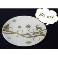 Wholesale 24K Gold Foil Hand-finished Glass Craft, Decorative Plate from china suppliers