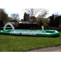 Buy cheap Grand National Children / Adult Inflatable Interactive Games With Enclosed Race Track from wholesalers