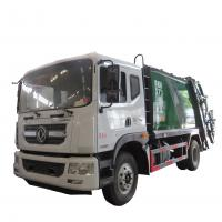 Buy cheap New dongfeng 4*2 12-14m3 refuse collector solid waste garbage refuse truck for sale, compacted garbage truck for sale from wholesalers