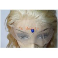 Buy cheap 613# blonde hair brazilian virgin human hair body wave  full lace wig for women from wholesalers