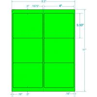 Buy cheap Fluorescent Green shipping Label For Use In Laser Printers Only!4x3-1/3 6 Labels/sheet from wholesalers