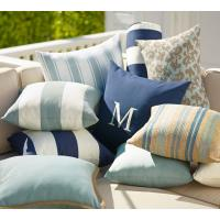 Buy cheap Home Decorative Outdoor Decorative Pillows Classic , Blue Striped Throw Pillows from wholesalers