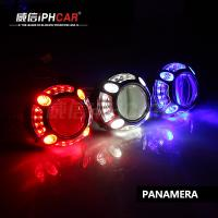 China IPHCAR Hot Selling Demon Eyes Headlights Projector Lens Led Ring Light with Lens on sale