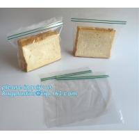Buy cheap double transparent plastic zip lock bag for fresh food fruit vegetable bread sandwich packing, gallon, quart, fold top from wholesalers