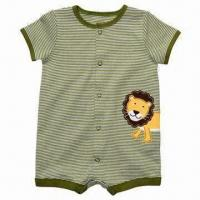 Buy cheap OEM/ODM 2012 Hot Sale 100% Cotton 180g Romper, Customized Designs/Colors/Fabrics/Sizes/Logos/Labels from wholesalers