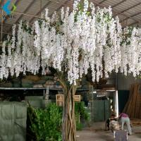 Wholesale White Artificial Flower Tree For Wedding , 5-10 Years Life Time Faux Flower Tree from china suppliers