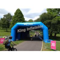 Buy cheap Customized 7*5m Blue Inflatable Tunnel Tent for Sport Games or Event from wholesalers