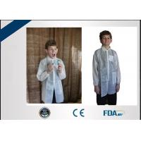 Buy cheap Long Sleeve Non Woven Disposable Lab Coats Fluid Repellent For Children from wholesalers